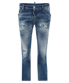 "Damen Jeans ""Cool Girl Cropped Jean"" Long Crotch Tight Bottom"
