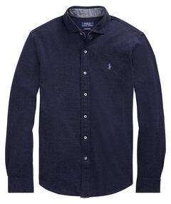 Herren Freizeithemd Custom Slim-Fit Langarm