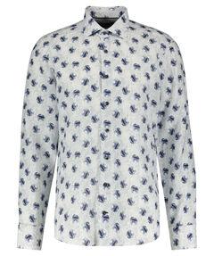 Herren Leinenhemd Tailored Fit Langarm