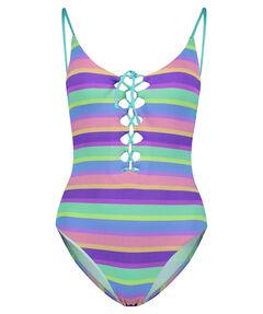 "Damen Badeanzug ""Baja Stripe V-Neck Maillot"""