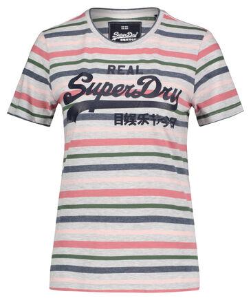 "Superdry - Damen T-Shirt ""Vintage Logo Stripe Entry"""