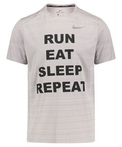 "Herren Laufshirt ""Run, eat, sleep, repeat"" Kurzarm"