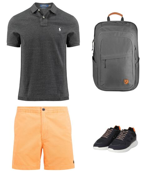 Outfit - Grey And Orange