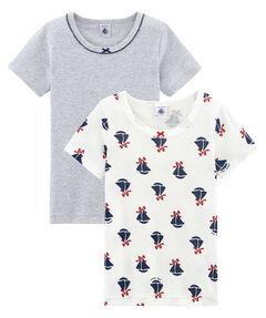 Mädchen T-Shirts 2er-Pack