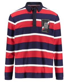 """Herren Shirt """"Herringbone Textured Rugby"""" Langarm"""