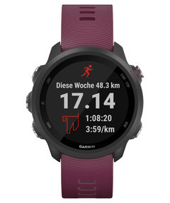"GPS-Laufuhr ""Forerunner 245"" dunkelrotes Armband"