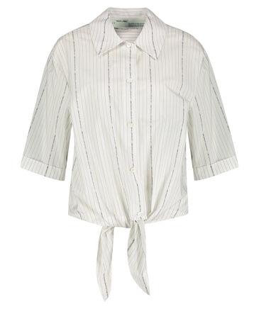 Off-White - Damen Hemdbluse Kurzarm