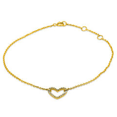Damen Diamantarmband mit Herzanhänger