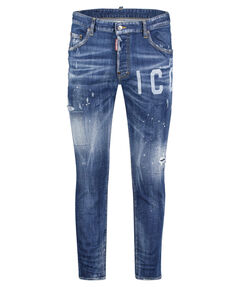 "Herren Jeans ""Icon Logo Distressed"" Extra Slim Fit"