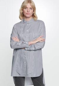 Damen Long-Bluse Loose Fit Langarm