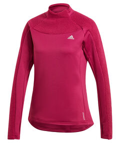 "Damen Laufshirt mit Kapuze ""Own the Run Warm"" Langarm"