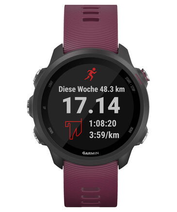 "Garmin - GPS-Laufuhr ""Forerunner 245"" dunkelrotes Armband"
