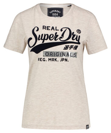 "Superdry - Damen T-Shirt ""Real Originals Flock Entry"""