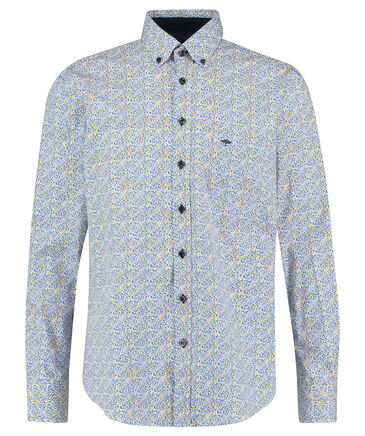 "Fynch-Hatton - Herren Hemd ""Blue Fond Dot Print"" Casual Fit Langarm"