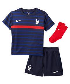"""Baby Frankreich Trikot-Set """"FFF Baby-Kit 2020 Home"""" dreiteilig"""