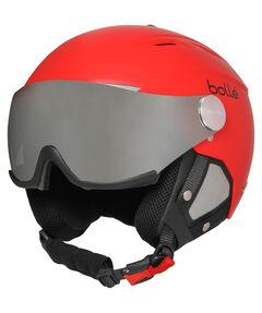 """Skihelm/Snowboardhelm """"Backline Visor soft Red with Silver Gun Visor + Lemon Visor"""""""
