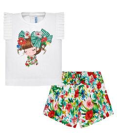 Mädchen Baby T-Shirt mit Bermudas zweiteiliges Set
