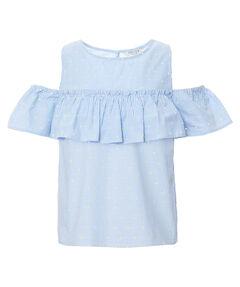 Mädchen Cold-Shoulder-Bluse Kurzarm