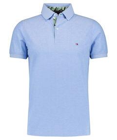 "Herren Poloshirt ""Printed Placket Slim Polo"" Slim Fit"