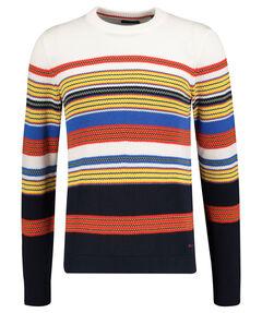 "Herren Pullover ""D1 Multi Colored Striped C-Neck"""