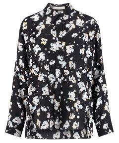"Damen Bluse ""Artistic Blossoms"" Loose Fit Langarm"