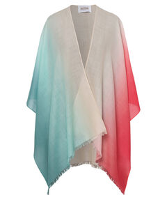 Damen Poncho-Strickjacke