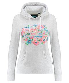 """Damen Sweatshirt """"V Logo Puff Floral Entry Hood"""""""