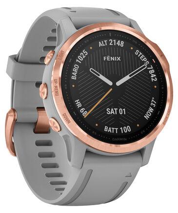 "Garmin - GPS-Multifunktionsuhr ""Fenix 6S Sapphire"" Grau/Rosegold"