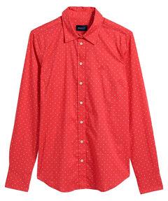 "Damen Bluse ""Printed Dot"" Slim Fit Langarm"