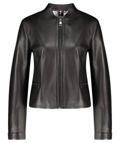 "Damen Lederjacke ""Essential Leather Slim Varsity Jacket"""