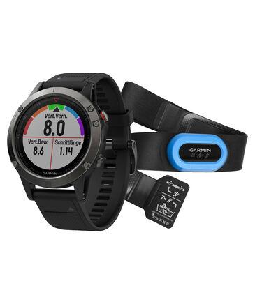 "Garmin - GPS-Multifunktionsuhr ""fenix 5"" grau/schwarz, mit HRMTri Bundle"