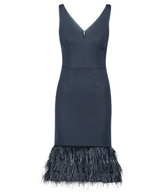"Damen Kleid ""Navy Feather Hem Wiggle Dress"""