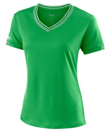 """Wilson - Damen Tennisshirt """"Team V-Neck"""" Kurzarm"""