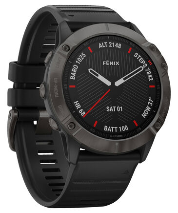 "Garmin - GPS-Multifunktionsuhr ""Fenix 6X Sapphire"" Schwarz/Schiefergrau DLC"