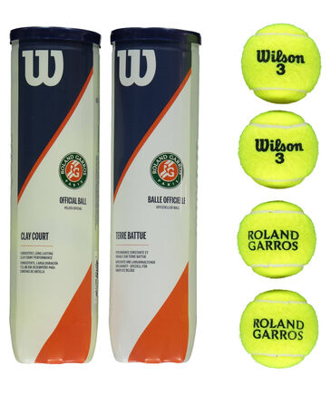 "Wilson - Tennisbälle ""Roland Garros Clay Court"" 2er Set à 4 Bälle"