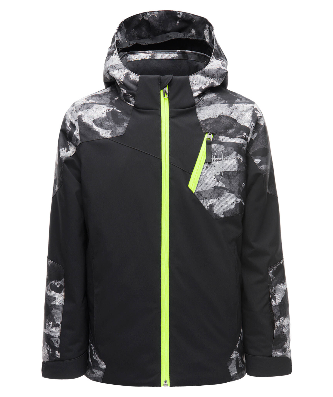 Spyder Kinder Jungen Skijacke Boy´sGuard Jacket schwarz gelb
