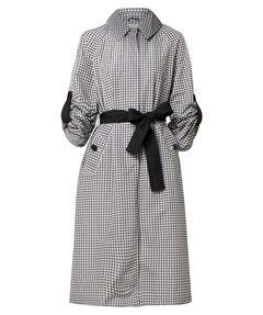 "Damen Trenchcoat ""Protective Check"""