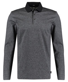 "Herren Poloshirt ""Pleins"" Slim Fit Langarm"