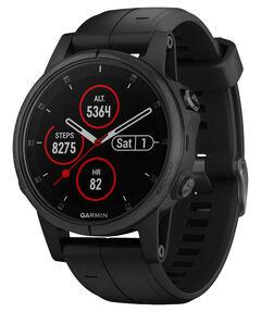"""GPS-Multisport-Smartwatch mit Herzfrequenzmessung """"fenix 5S Plus Saphire"""" Schwarz mit schwarzem Armband"""