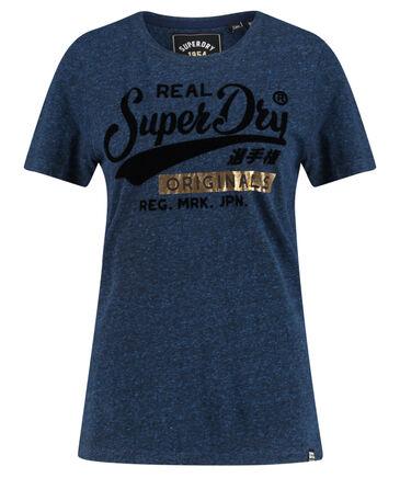 "Superdry - Damen T-Shirt ""Real Originals Flock Entry"""
