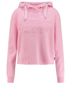 """Damen Sweatshirt """"V Logo Emboss College Crop Hoodie"""""""