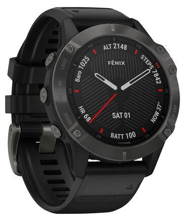 """Garmin - GPS-Multifunktionsuhr """"Fenix 6  Sapphire """" Schwarz/Schiefergrau DLC"""