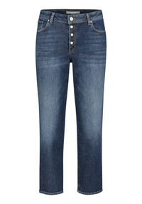 Damen Cropped Jeans Straight Fit