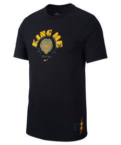 "Herren Basketball-Shirt ""LeBron King Me"" Kurzarm"