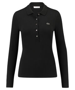 Damen Poloshirt Slim Fit Langarm
