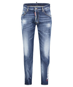 """Herren Jeans """"D2 Line Skater Washed Logo"""" Extra Slim Fit"""