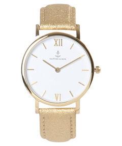 "Damen Uhr ""Joy Gold Glitter Leather"""