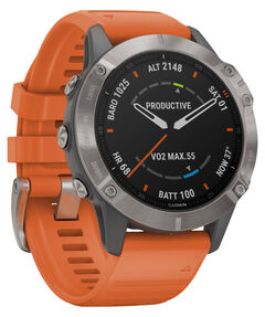 "GPS-Multifunktionsuhr ""Fenix 6 Sapphire"" Grau/Silber Titan Lünette"