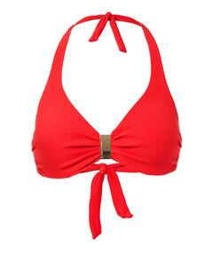 "Damen Bikinioberteil ""Provence Red Piqué Bikini Top"""