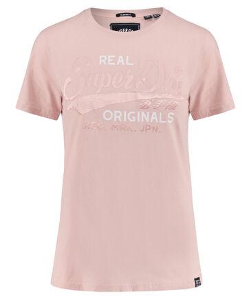 "Superdry - Damen T-Shirt ""Real Originals Satin Entry Tee"""